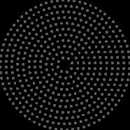 Círculo pontilhado